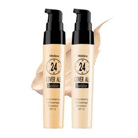 泰国Mistine24小时不易脱妆粉底液   自然遮瑕持久防水隔离控油
