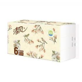 【原乡特惠】清风 抽取式面巾纸 纸巾 3层 100抽 188*136mm 6包/提 4提/箱(整箱)
