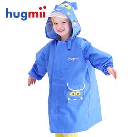 hugmii儿童雨衣男女童幼儿园立体卡通雨披宝宝小孩带书包位雨衣