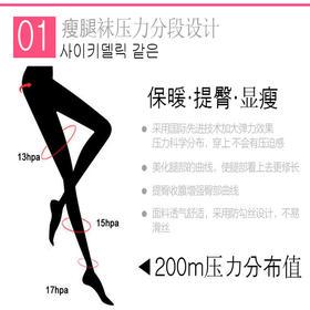 【提臀显瘦 压力科学分布】韩国Let's slim 春款女神必备打底袜 防勾丝设计美腿塑形