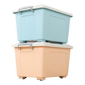 14L+26L加厚食品级全新PP塑料收纳箱 车载整理箱玩具有盖衣服置物储物箱【小号+中小号颜色随机】