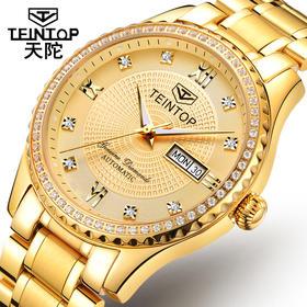 天陀(Teintop)时尚镶钻防水情侣手表金表8629