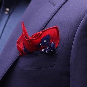 男士羊毛数码印花胸带巾