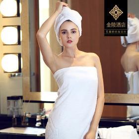 金陵酒店授权五星级酒店浴巾纯棉成人加大加厚柔软吸水男女