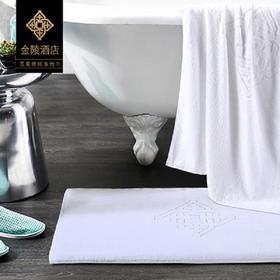 金陵酒店授权五星级酒店全棉地垫地巾卫浴加厚吸水进门纯棉卫生间