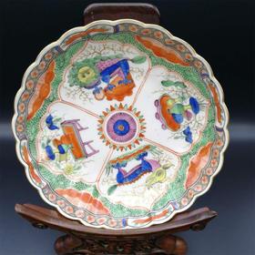 【菲集】1785年英国皇家伍斯特瓷厂生产的瓷盘 艺术品轻古董 跨境直邮
