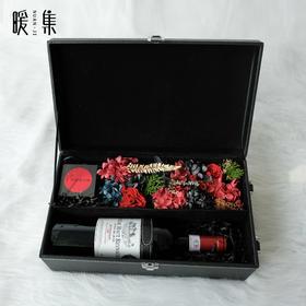 【良辰】永生花红酒礼盒