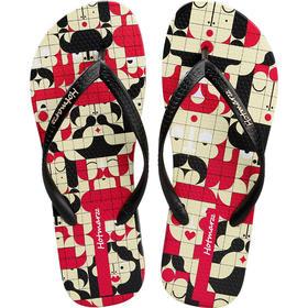 hotmarzz黑玛3D不对称女款人字拖鞋女平底防滑夹趾女凉拖沙滩鞋