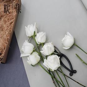 【暖集街角花店】白玫瑰花束