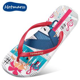 hotmarzz黑玛人字拖鞋女夏时尚外穿平跟防滑夹趾女凉拖沙滩鞋