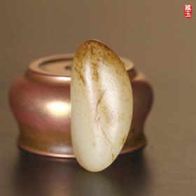 秋梨皮玩料,新疆和田籽料
