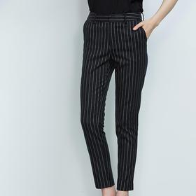 时尚竖条纹长裤