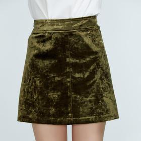 时尚休闲丝绒半裙