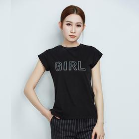 Girl字母短袖T恤