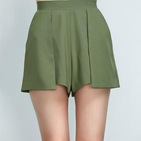 简约显瘦绿色套装短裤