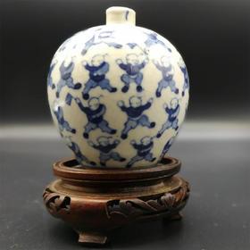 【菲集】1870年仿康熙瓷器 百子瓶 艺术品珍品收藏品