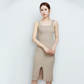 修身显瘦螺纹连衣裙