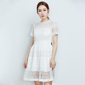 显瘦水溶蕾丝连衣裙--Z