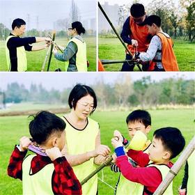 春光无限好~带孩子到户外感受自然学习战地求生技能,和小伙伴来一场cs大战!