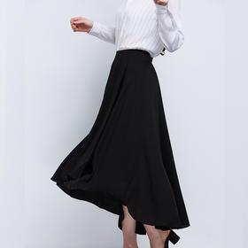 前短后长中长款半裙