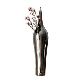 Best West 银色心形陶瓷瓶