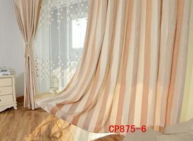 什邡浪漫满屋布艺 雪尼尔麻料条纹成品窗帘