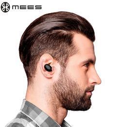 MEES 真无线耳机 蓝牙耳机分离式无线双耳超小迷你运动耳机跑步健身房.开车通话麦克风