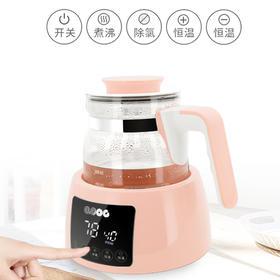 QOOC西芹恒温调奶器冲奶 恒温热水壶 大小屏显示 一键触控 轻松调制健康奶