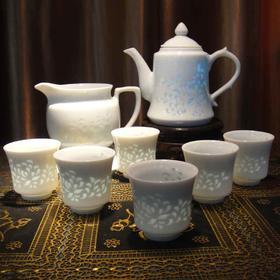 """""""秋韵""""青花玲珑8头茶具"""