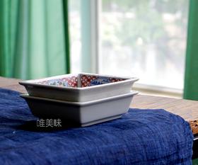 外贸 和风 新骨瓷方形陶瓷小碟 蘸料碟 泡菜碟 茶食蜜饯 轰趴 家宴 满包邮