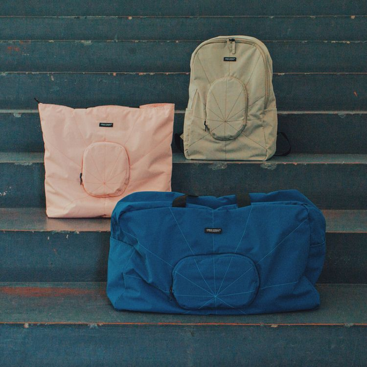 URBAN FOREST可折疊旅行包托特包雙肩包游出差便攜生日情人節禮物【D】