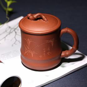 竹韵紫砂茶杯