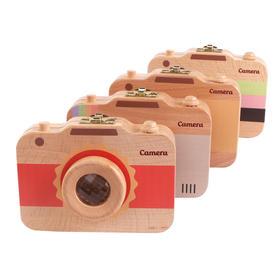 木制儿童相机乳牙保存盒宝宝牙齿牙屋收纳盒 胎毛珍藏保存