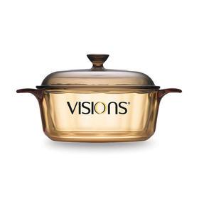 【能把铝锅煮化 干烧10小时不坏】康宁VISIONS  晶彩透明玻璃汤锅