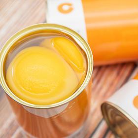 黄桃罐头 新鲜安徽砀山黄桃制作 脆甜爽口 不含防腐剂 425g*4罐组合装包邮