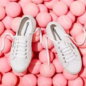 意大利百年品牌!SUPERGA 舒适休闲小白鞋!内增高 / 宽鞋带 / 经典款 3款 5色 可选!时尚街拍帆布鞋,可搭亲子款