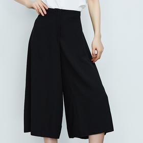 优显瘦简约宽松裙裤