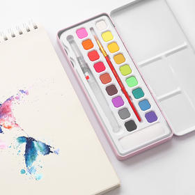 固体水彩颜料套装36色  文具
