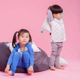 Nacasa有机棉小鸡印花儿童家居服   长袖+长裤套装
