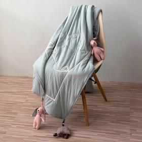 Nacasa针织棉龟兔赛跑绣花儿童毯