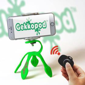 【爆款产品】以色列Gekkopod蓝牙迷你便携支架壁虎八爪鱼手机自拍照相机三脚架