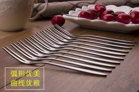 水果叉不锈钢蛋糕叉月饼刀叉20支装月饼叉水果签