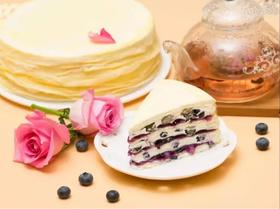 新鲜蓝莓千层蛋糕