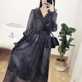 星空连衣裙