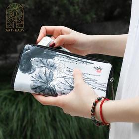 Art·Easy艺术浦东锦缎多功能手拿包护照包证件夹钱包手机包