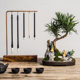【绿居植物】罗汉松石景(小)盆栽 室内小绿植花卉盆景 办公室植物