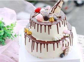 炫彩巧克力蛋糕(8寸+6寸)