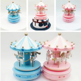 【旋转木马音乐盒】 生日蛋糕装饰摆件  创意八音盒礼物
