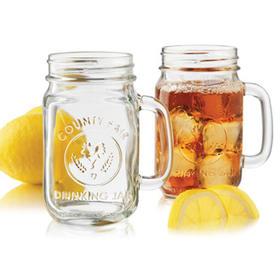 【玻璃公鸡杯500ml】罐头瓶冰桔茶瓶冷泡茶瓶奶茶瓶饮料瓶果汁杯