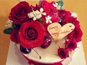 暖心玫瑰花蛋糕